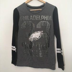 NFL Philadelphia Eagles Grey & Black Shirt Large